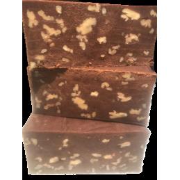 bloque de turrón de brownie